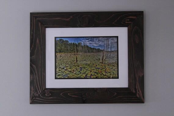 "Ballanger Creek in HDR: 8x12"" print framed in reclaimed cedar"