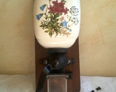 Antique coffee grinder. Antique French wall coffee grinder
