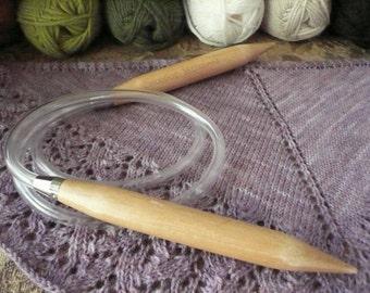 ChiaoGoo 2040 40 inch Sizes 35 or 50  Wood Circular  Knitting Needles