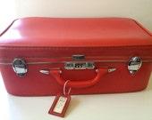 Vintage Red Suitcase - Air Lite by Earhart