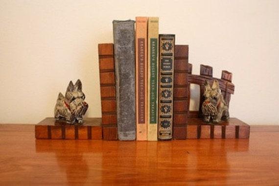 Vintage Bookends - Scottie/ Westie Dog