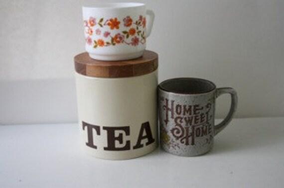 SALE - Vintage Tea Canister - Ransburg USA
