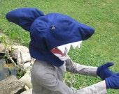 One size fits most Shark Head Costume with gloves. Great For SHARK WEEK!!