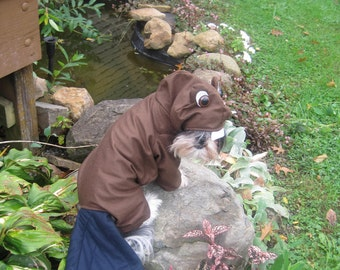 Custom/made to order Beaver dog costume for your xsmall-medium size dog