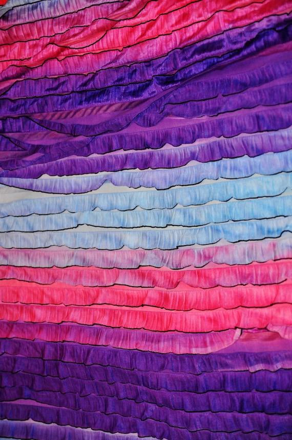 Ruffled Fabric for Backdrop, Floor, or Prop, Blanket