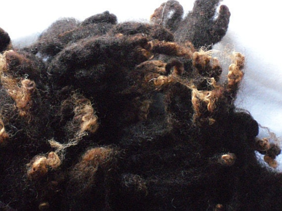 Reserved Listing For Kate / Zauberzeug Washed Zwartbles Sheep Fleece 100g/3.5oz