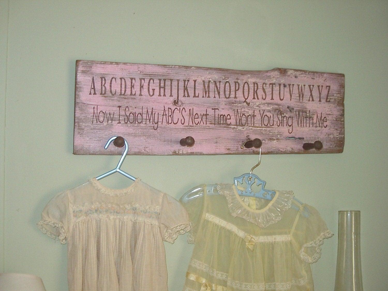 pink brown rustic shabby chic baby girl nursery