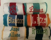 Monogrammed Personalized Cabana Stripe Beach Towel Bachelorette Party Favors Gift Discounts with Bulk Orders Personalized Bridesmaid Gift