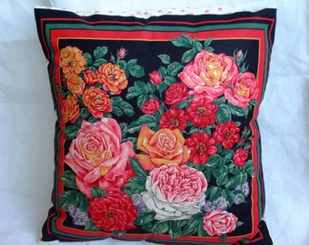Pillow,printed  american cotton,cover,with roses,housewares,pillowcase shabby chic