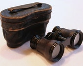 lemaire fabt paris vintage binoculars, french opera glasses, 1920s, steampunk, regency, with leather case