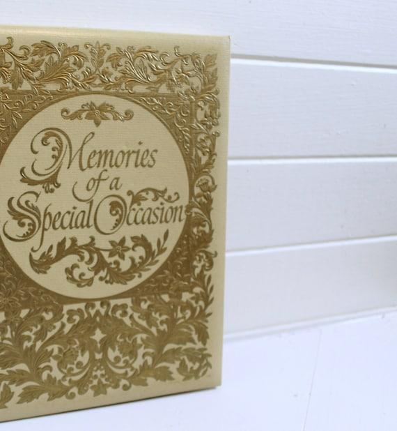 Hallmark Wedding Anniversary Gifts: ON SALE-vintage Hallmark Special Occasions Guest Book In Cream