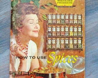Clearance Sale -Watkins Spice Cookbook - 1958