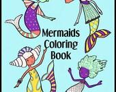 Printable Coloring Book  MERMAIDS