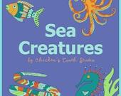 Printable Coloring Book SEA CREATURES