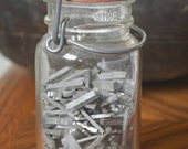 One pound vintage letterpress metal type - mixed bag of letters and numbers 6 to 12 point