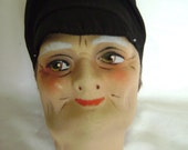 Antique FRENCH BOUDOIR DOLL Man's Head 1920-30's  Very Rare