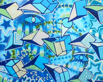 ORIGINAL large surrealism abstract street art urban pop art spray paint painting