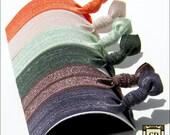 Hair Ties - Earthy Collection - Set of 6 - Elastic Hair Ties - Mane Accessory