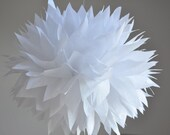 1 Paper Pom Pom : any color - wedding day white - vintage wedding - bachelorette - bridal shower - baby mobile - mix and match