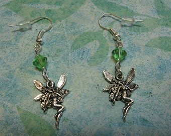 Fern Green Crystal Fairy Queen Earrings