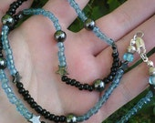 Wishes Necklace, with Hematite Stars, Planets, and Glass