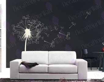 Dandelion Wall Decal Bedroom Living room Nursery Stickers Kitchen Office Removable Vinyl Sticker Wall Art Seeds Decals Home Decor Nature DIY