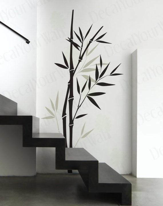 Bamboo wall decal bedroom living room nursery wall art vinyl for Decoration murale 1 wall