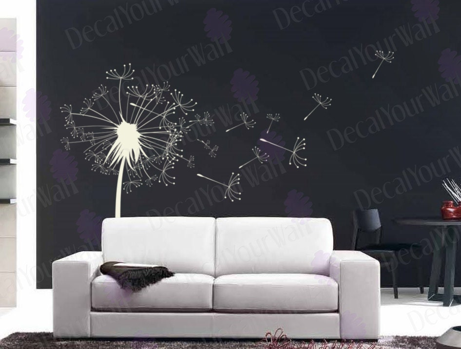 Dandelion Wall Decal Bedroom Living room Nursery Stickers