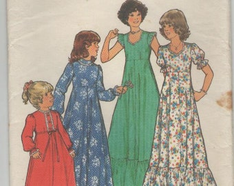 On Sale - 1970s Style Pattern No 2160 - Childs Bridesmaid or Party Dress,  Size 6, UnCut Factory Folded