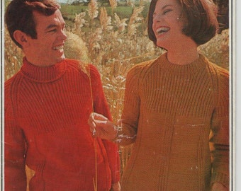 ON SALE - Paton's Jet, Country Style, Knitting Pattern Book No 842 Vintage 1970s