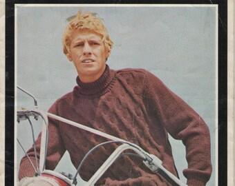 Villawool Designs for Men Knitting Pattern Book Vintage 1970s