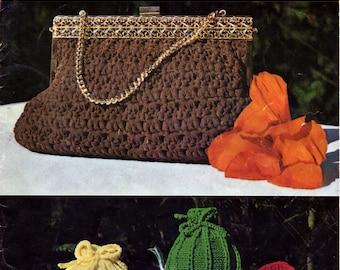 ON SALE - Myart Knit & Crochet Nylon Ribbon Pattern,  Book 6 - Vintage 1970s, Bags, Mats, Tea Cozy, Slippers