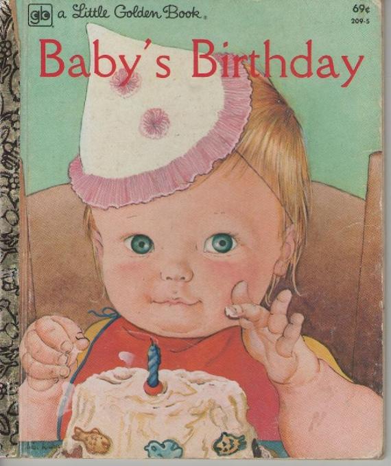 Baby's Birthday Vintage Little Golden Book American