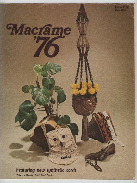 ON SALE - 1970s Craft Magazine on Macrame