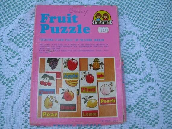 Vintage Frucht der Webstuhlanzeigen