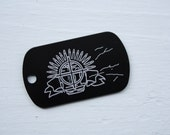 Battlefield3 Inspired Dogtag - Crosshairs and Ammo (CUSTOMIZED)