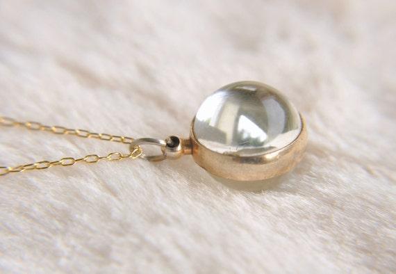 POOL OF LIGHT / Antique / locket necklace