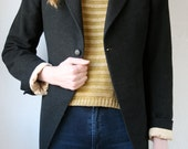 Black wool jacket w tails