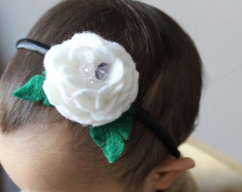 Beautiful headband for children or adult in felt /Serre-tête enfant ou adulte avec feutrine