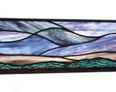 Stained glass panel of the sunrise abstract