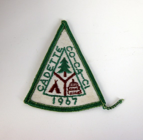 1960s Vintage Patch / Badge - 1967 CO-CA-CI Cadette Girl Scout