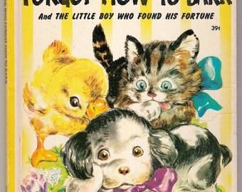 The Little Dog Who Forgot How to Bark Vintage Wonder Book Illustrated by Hildegarde Hopkins 1946