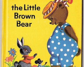 TIMOTHY the Little Brown Bear Vintage Rand McNally Junior Elf Book Illustrated by Jane Flory 1971