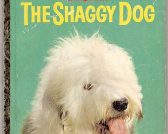 Walt Disneys The Shaggy Dog Vintage Little Golden Book Illustrated by Joseph Cellini 1959