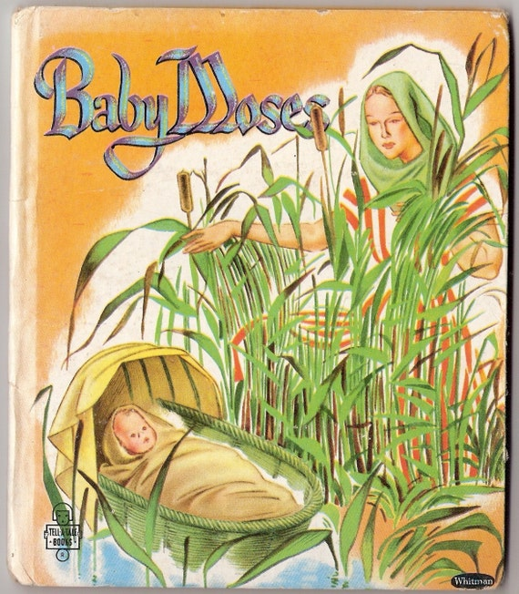 BABY MOSES Vintage Children's Whitman Tell A Tale Book Illustrated by Bruno Frost 1952