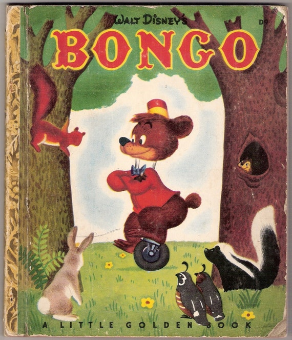 Walt Disneys BONGO Vintage Little Golden Book Illustrated by the Walt Disney Studio 1948