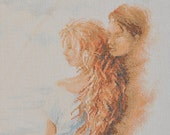 Finished / Completed Cross Stitch - Lanarte - Couple in Love