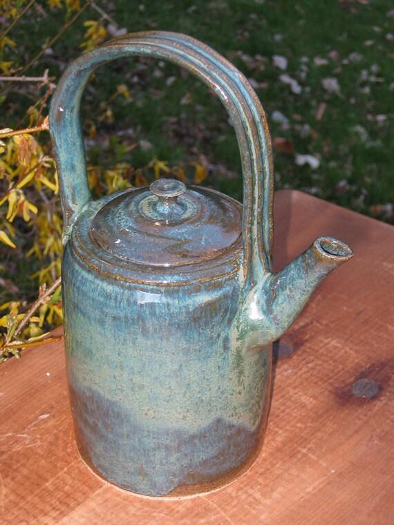 Pottery Teapot Handmade Stoneware Tea Pot (0212018)
