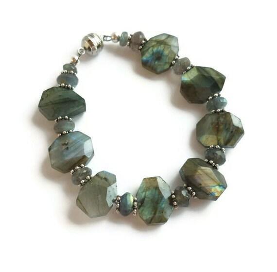 RESERVED for Alecia-Labradorite Bracelet Sterling Silver
