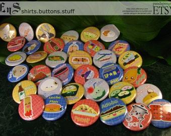 Filipino Food - Pinback Buttons (36)